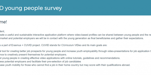 CUVID young people survey